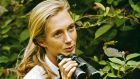 Jane Goodall in Gombe National Park, 1965: her findings on the social and family interactions of wild chimpanzees would challenge the scientific orthodoxy of her time