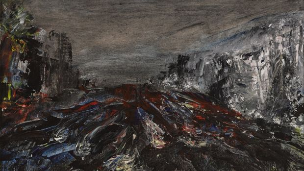 A painting of Dublin's river Dodder in flood by Jack B Yeats