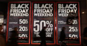 Black Friday isn't here yet, but retailers are already promising lower prices. Photograph: PA Wire