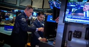 Trading volumes were thin on the New York Stock Exchange ahead of the Thanksgiving holiday on Thursday and an early close on Friday. Photograph: Michael Nagle/Bloomberg