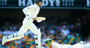 England's batsman James Vince in action on the first day of the first Ashes Test. Photograph: Getty Images