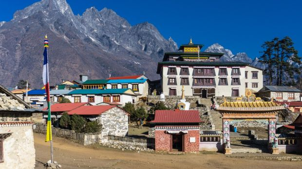 The city of Tengboche, one of the stops on a Everest Base Camp trek
