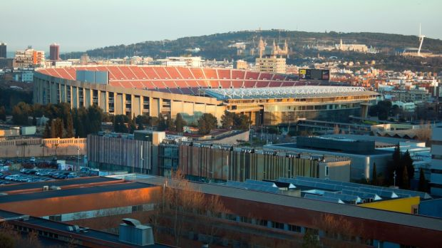 Take a football lover to see a match in the Nou Camp in Barcelona, Spain,the biggest stadium in Europe