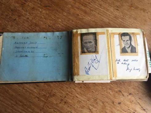 The autographs of Cork's Christy Ring and Kerry's Johnny Culloty.