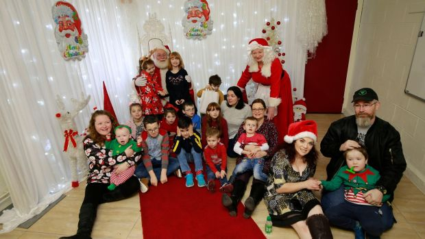 Members of the Julianstown Autism Support Group look forward to a Christmas visit from Santa at Julianstown Community Centre in Meath. Photograph: Nick Bradshaw
