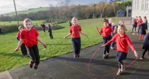 Children playing at Gurraneasig national school in Kilbrittain, Co Cork. Photograph: Daragh Mc Sweeney/Provision
