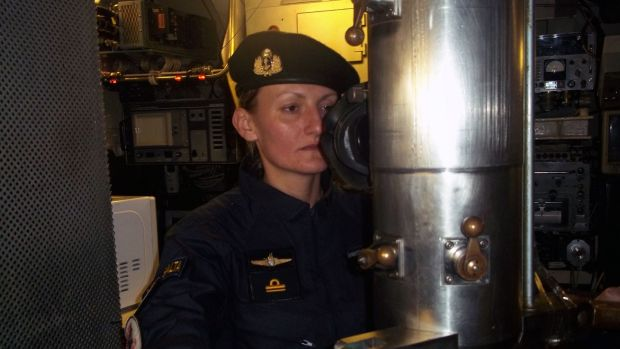 Eliana María Krawczyk, Argentina's first female submarine officer, was serving on the missing ARA San Juan vessel. Argentine Navy/AFP/Getty Images