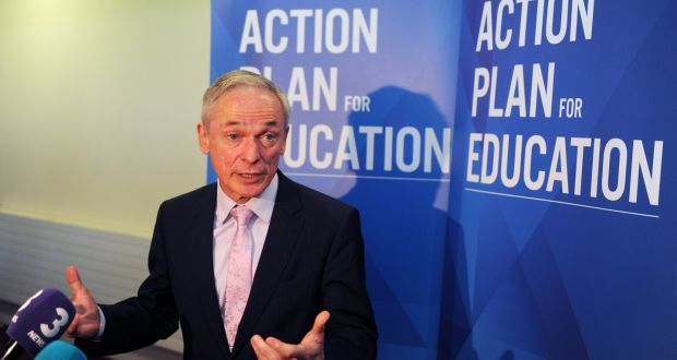 Minister for Education Richard Bruton: draft legislation prohibits schools from applying a priority in admission based on attendance at a specific pre-school.  Photograph: Aidan Crawley