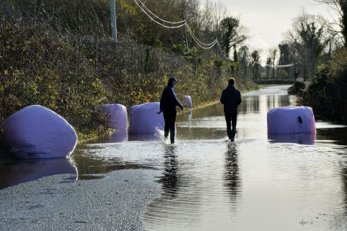 BALE OUT: The Manor Road in Mountmellick on Thursday. Photograph: Alan Betson/The Irish Times