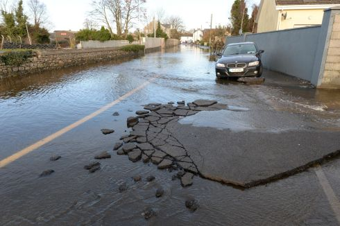 BREAKING POINT: The Manor Road in Mountmellick. Photograph: Alan Betson/The Irish Times