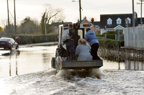 JUMP IN: The Manor Road in Mountmellick. Photograph: Alan Betson/The Irish Times