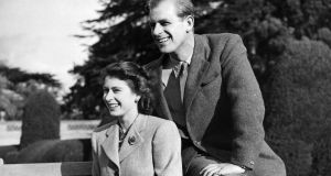 Britain's Princess Elizabeth (now Queen Elizabeth II) and her husband Philip Duke of Edinburgh on honeymoon on November 25th, 1947, in Hampshire. Photograph:  STRSTR/AFP/Getty