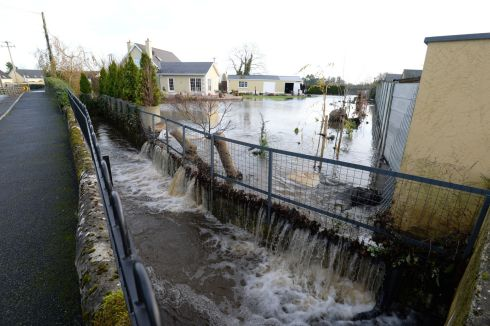 The Manor Road in Mountmellick where up to half a meter of water entered  homes in the area. Photograph: Alan Betson / The Irish Times