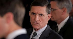 Former White House national security advisor Michael Flynn. Photograph: Reuters