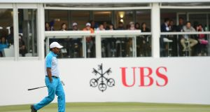 SSP Chawrasia of India during the second round of the UBS Hong Kong Open. Photograph: Arep Kulal/Getty Images)