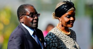 Robert Mugabe, pictured with his wife Grace,   was forced out as leader of Zimbabwe  earlier this week after 37 years in power.  Photograph: Siphiwe Sibeko/AFP/Getty Images