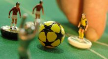 Subbuteo: the greatest football game ever invented. Photograph: Michael Gottschalk/AFP/Getty