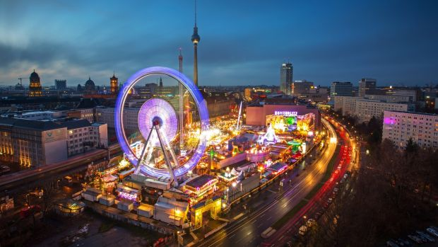 Berlin Christmas market at Alexanderplatz.