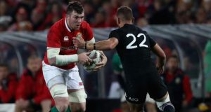 "Peter O'Mahony in action for the Lions against New Zealand. ""I didn't play as well as I would have hoped in the first Test, but it was a huge honour. I wanted to play in the last two but I wouldn't be bitter. I enjoyed the tour."" Photograph:  David Rogers/Getty Images"