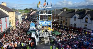 Puck Fair in full swing in Killorglin, Co Kerry. Photograph: Don MacMonagle