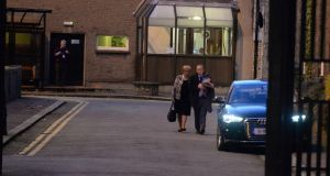 The Tánaiste Frances Fitzgerald leaving Government Buildings on Friday evening. Photograph: Cyril Byrne