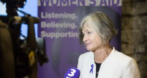 Margaret Martin (Director, Women's Aid) at the official launch of the Women's Aid Femicide Watch 2017. Photograph: Paul Sharp