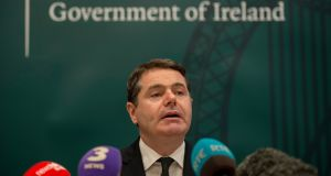 Minister for Finance Paschal Donohoe: an early election would sap his time and energy ahead of a  key  December meeting. Photograph: Brenda Fitzsimons