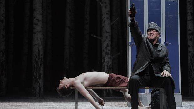 Tommy Harris as Micke and Nick Dunning as Hakan in 'Let the Right One In' at the Abbey Theatre. Photograph: Ros Kavanagh