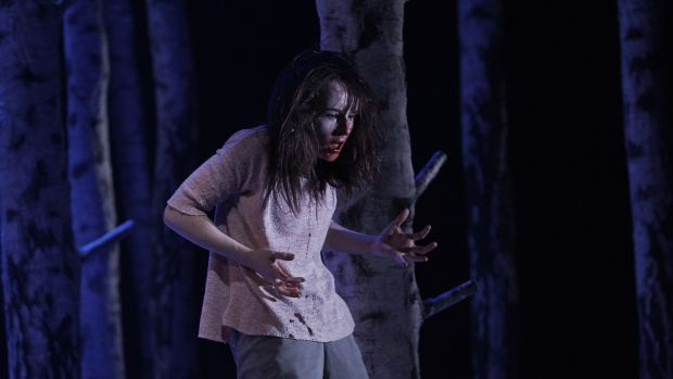 Katie Honan as Eli in 'Let the Right One In' at the Abbey Theatre. Photograph: Ros Kavanagh
