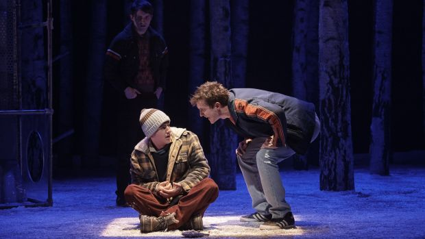 Craig Connolly as Oskar and Jamie Hallahan as Jonny in 'Let the Right One In' at the Abbey Theatre. Photograph: Ros Kavanagh