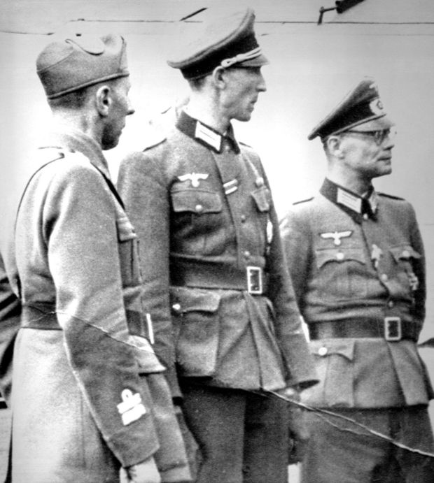 Former UN secretary general Kurt Waldheim (centre) at a meeting on May 22nd, 1943, at an airstrip in Podgorica, Yugoslavia. Photograph: AP/World Jewish Congress