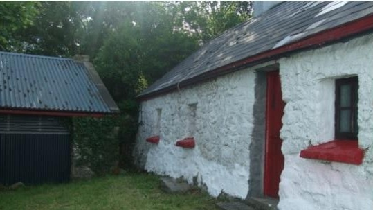 Kevin Beirne Auctioneers is seeking €50,000 for this one-bedroom cottage with outhouse in Ross, Pontoon, Castlebar, Co Mayo