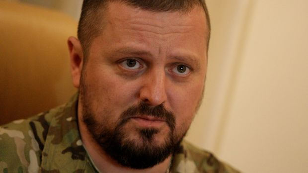 Igor Kornet, sacked interior minister of the self-styled Luhansk People's Republic. Photograph: Getty Images