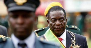 Emmerson Mnangagwa after being sworn in as Zimbabwe's president in Harare. Photograph: Siphiwe Sibeko/Reuters