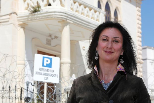 Maltese investigative journalist Daphne Caruana Galizia. She was killed after a powerful bomb detonated beneath her car. Photograph: Reuters