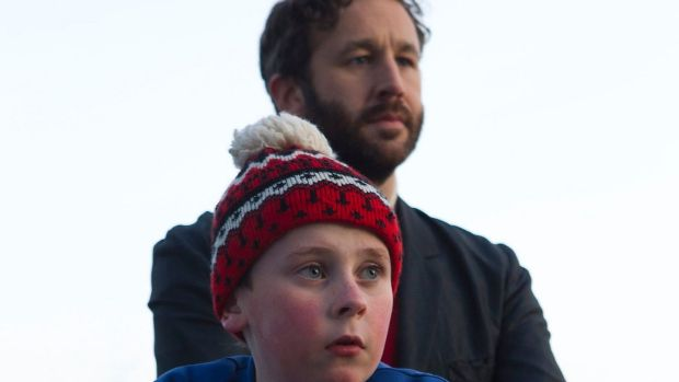 Actors Chris O'Dowd and David Rawle taking part in the film 'Moone Boy'. Photograph: Pat Redmond