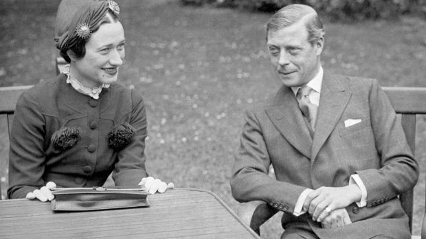 Edward VIII with his wife Wallis Simpson