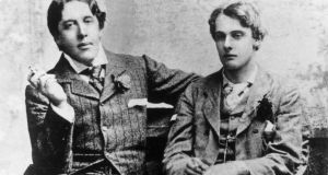 "Oscar Wilde and  Lord Alfred Douglas in Oxford in 1893. Nicholas Frankel insists Douglas ""knew and loved Wilde more intimately that any other individual in the period"". Photograph: Hulton Archive/Getty Images"