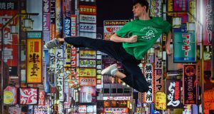Taekwondoin Jack Wooley at the OCI Tokyo Summer Scholarship announcement. Photo: Ramsey Cardy/Sportsfile