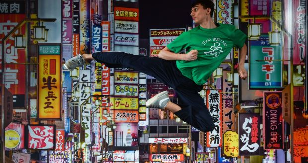Taekwondoin Jack Wooley at the OCI Tokyo Summer Scholarship announcement.  Photo  Ramsey Cardy  594ae3a8c