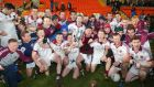 Slaughtneil celebrate their Ulster club final victory over Cavan Gaels at the Athletic Grounds in Armagh. Photograph: Jonathan Porter/Inpho