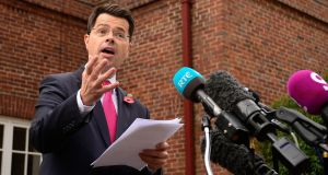 "Northern Ireland secretary James Brokenshire: ""Northern Ireland will benefit from the industrial strategy's removal of barriers to innovation and growth."" Photograph: Arthur Allison/Pacemaker Press"