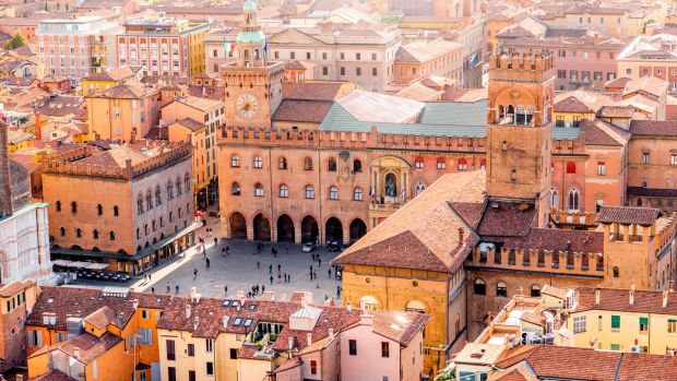 Bologna's historic city centre. Photograph: Getty Images