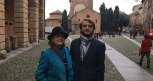 Manus Carlisle and his mother Mary in Bologna