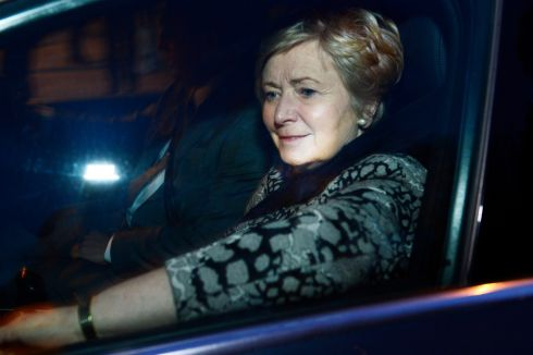 27/11/17: Tánaiste Frances Fitzgerald leaves Government Building. Photograph: CYRIL BYRNE / THE IRISH TIMES
