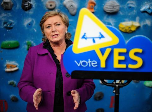 21/10/2012: Minister for Children and Youth Affairs Frances Fitzgerald at the launch of Young Fine Gael's Yes to The Children referendum campaign in Dublin. Photograph: Aidan Crawley