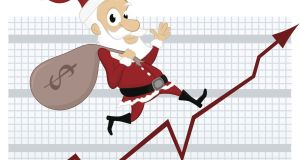 December has traditionally been the strongest month for stocks and money managers will be eyeing another Santa Claus rally. Photograph: Getty Images/iStockphoto