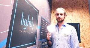 Matt Hanbury of Lightly Technologies who beat off international competition to win the Society of Light & Lighting's young lighter of the year award recently