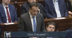 Taoiseach Leo Varadkar called Frances Fitzgerald an exemplary member of Government and a loyal colleague. Image: Oireachtas TV