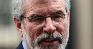 Sinn Féin president Gerry Adams: sense of separatism, superiority and suspicion of others allows the party exist within a special type of bubble, and within that bubble the tradition's undemocratic and violent past is treated as a source of pride. Photograph: Jack Taylor/Getty Images